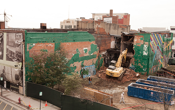 green wall demolition