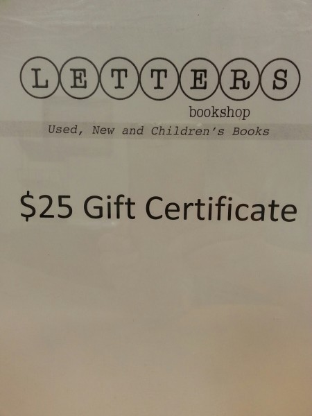 $25 Gift Certiicate to Letters Bookshop