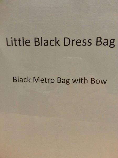 Black Metro Bag from Little Black Dress Bag
