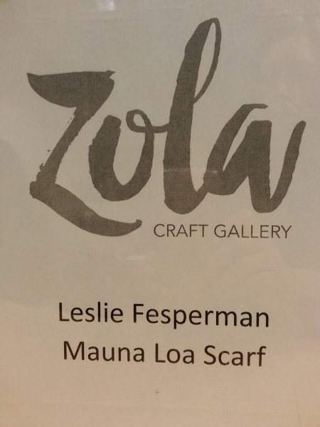 Leslie Fesperman Scarf from Zola Gallery