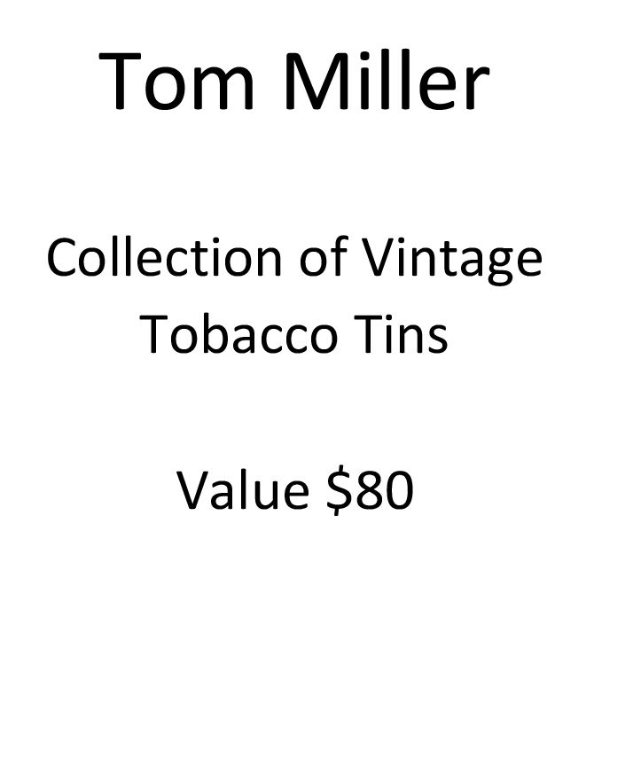 Tom Miller Vintage Tins Placard