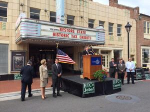 Sec Kluttz in Kannapolis on her 2015 campaign to restore the state historic tax credit.